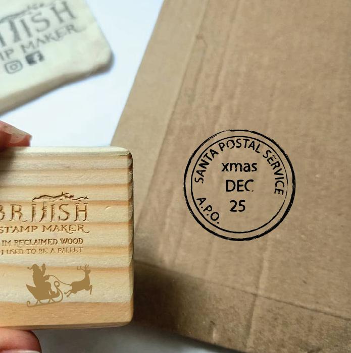 Christmas postal stamp