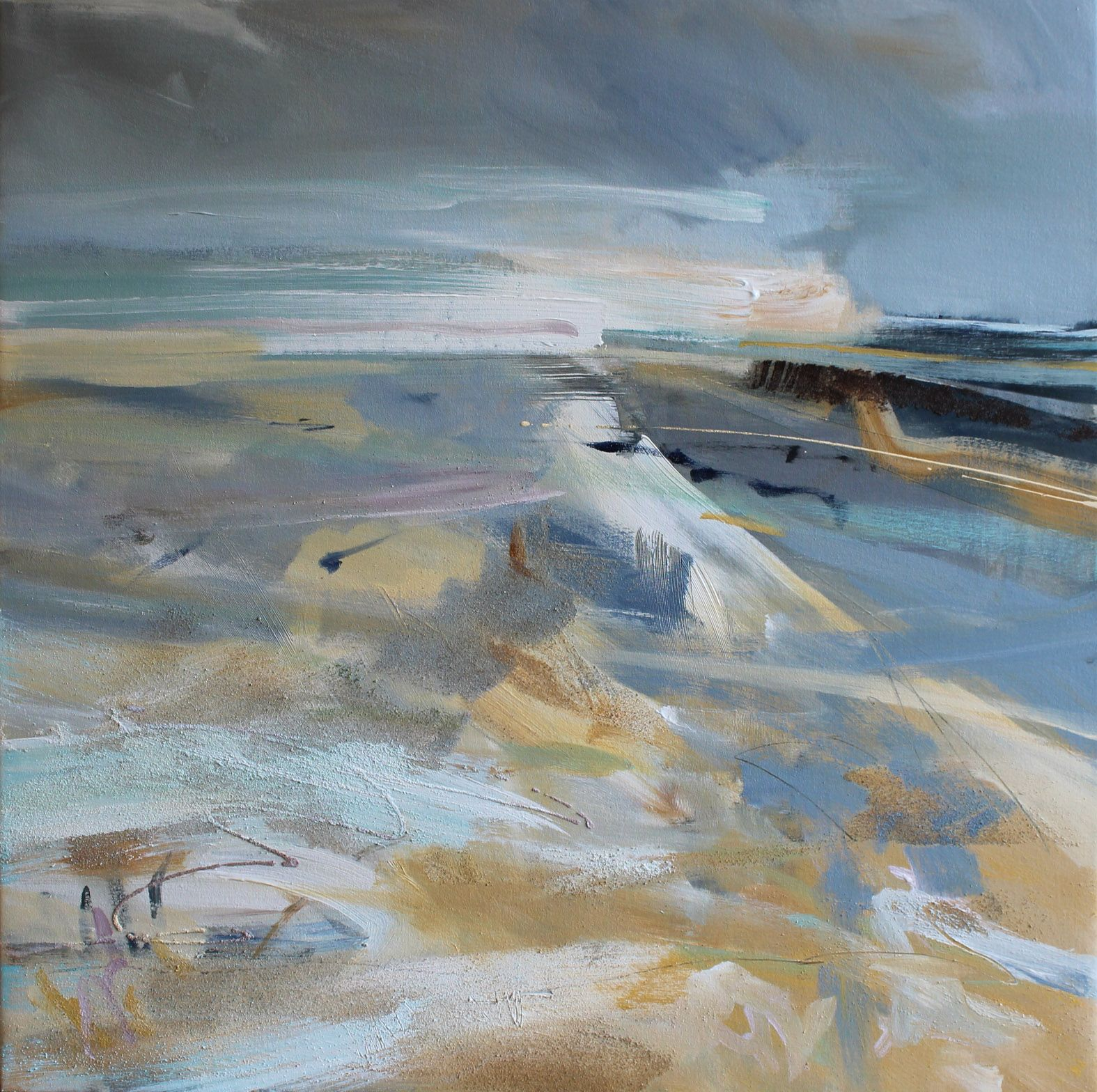 Cornish abstract beach painting