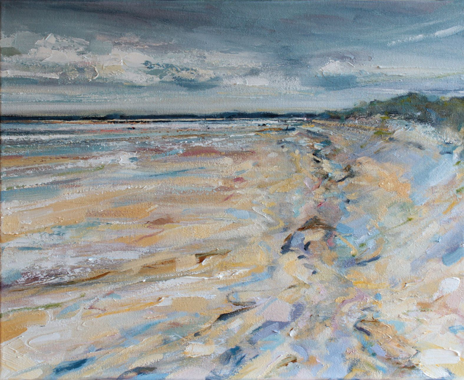 Brancaster beach impressionist style