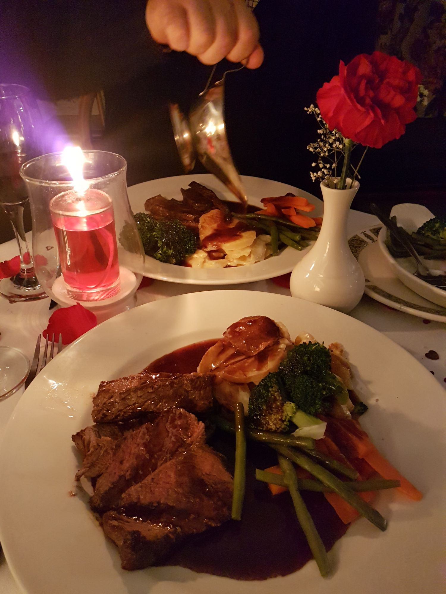 Valentines meal