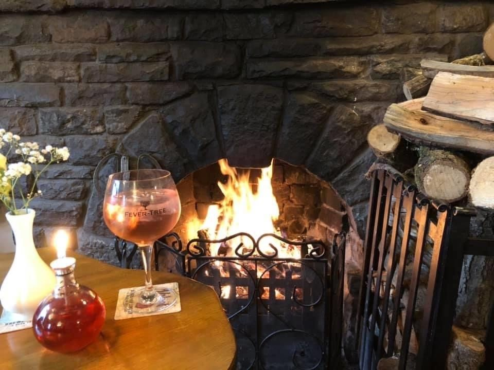 Open fire at The Greyhound