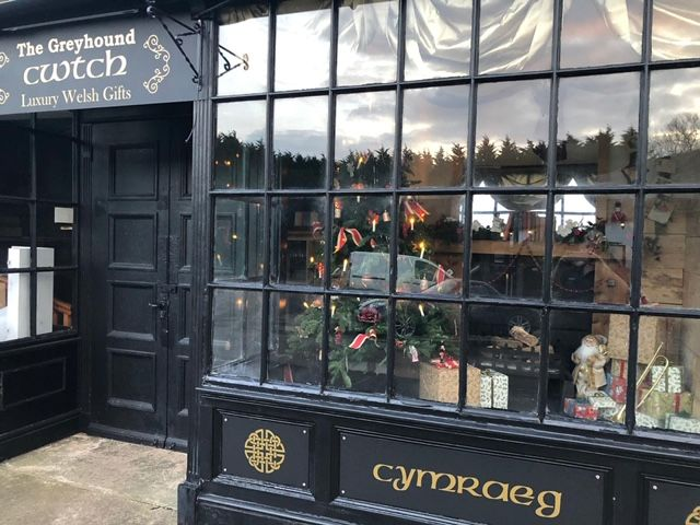 The Cwtch luxury Welsh gift shop front window