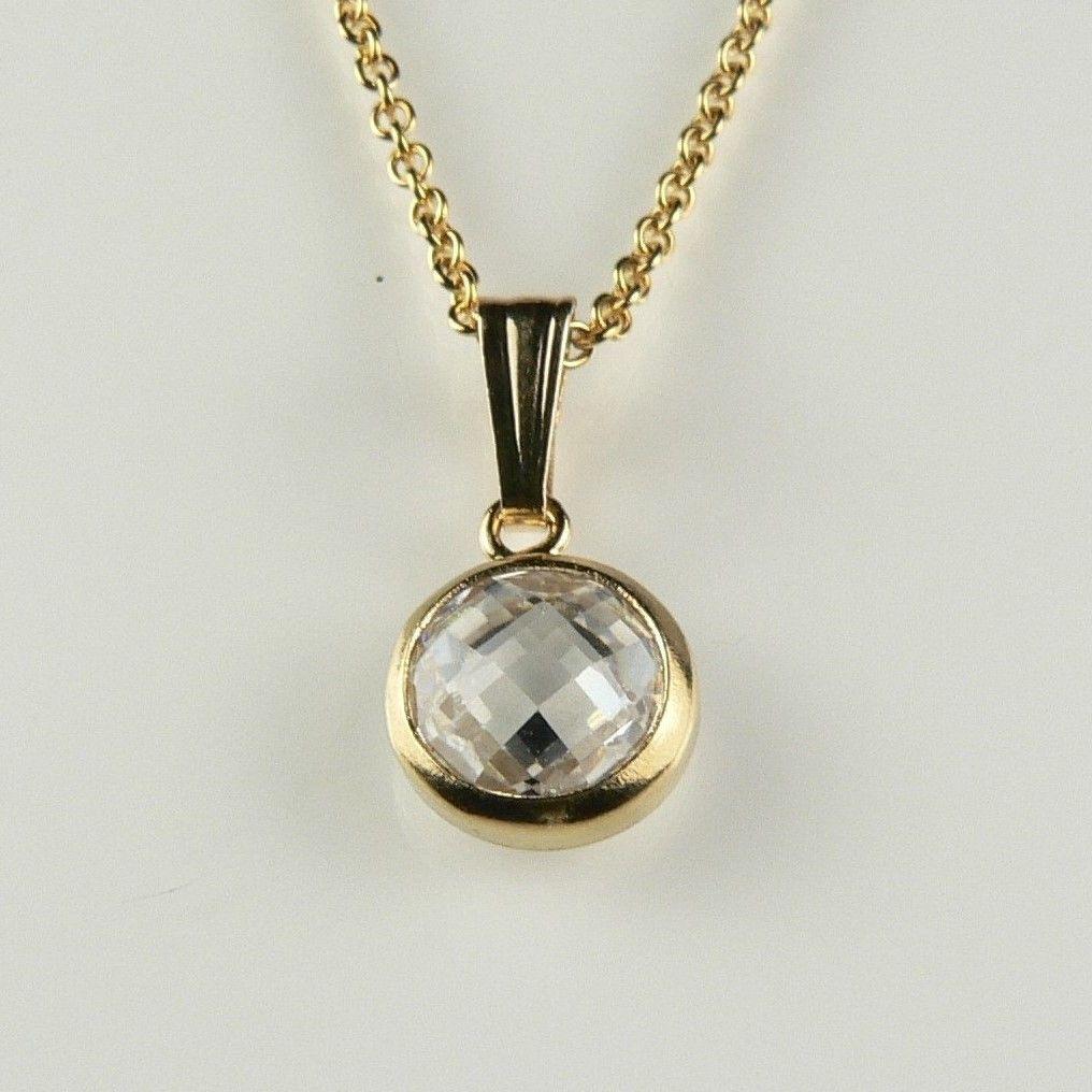 Moss agate 14ct Gold Filled Pendant ~ Semi Precious Beads Garnet Necklace