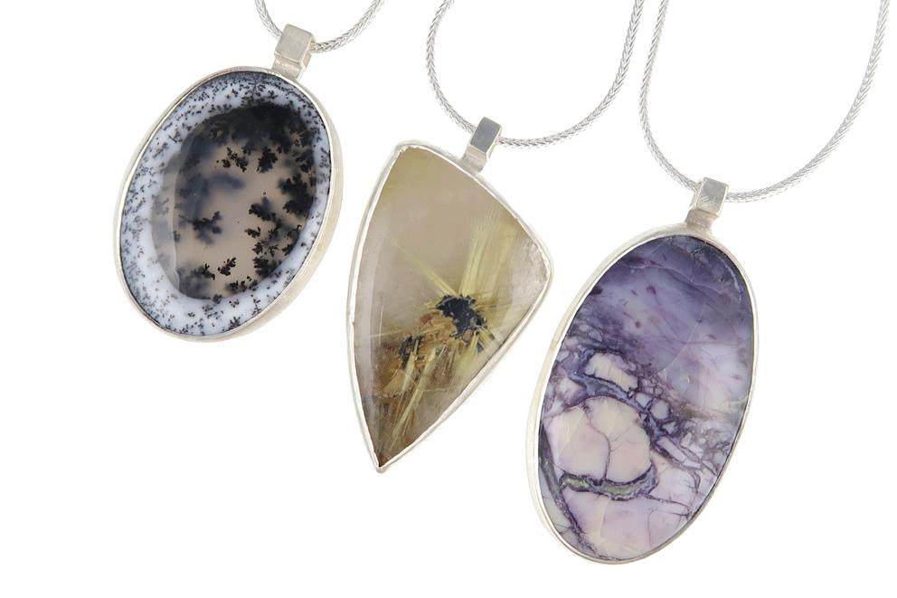 unusual gemstone jewellery; silver jewellery tiffany stone