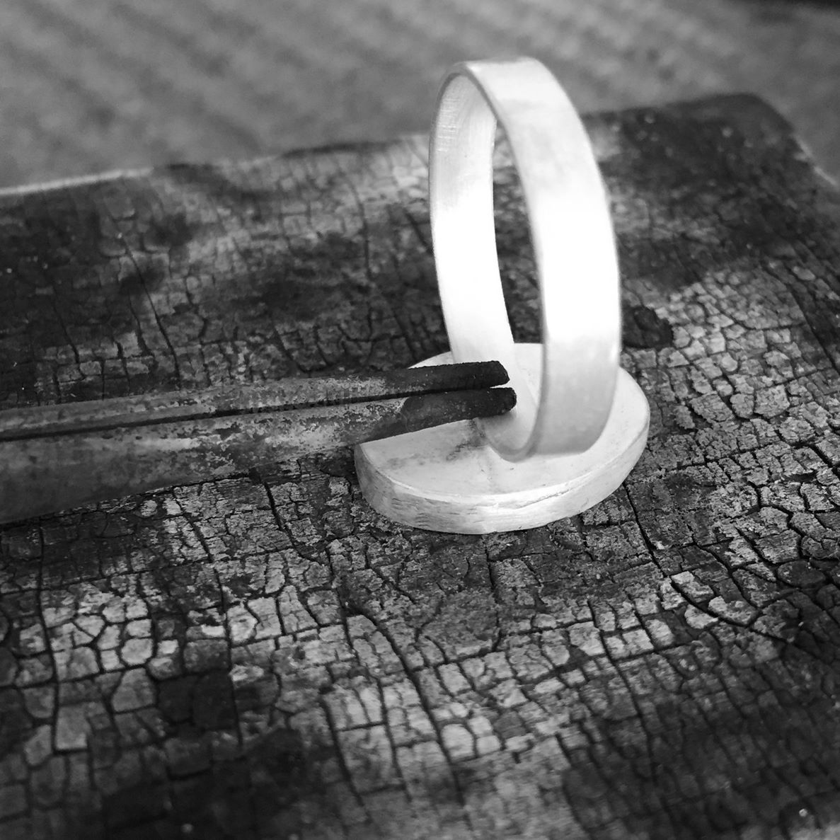soldering a setting on a ring