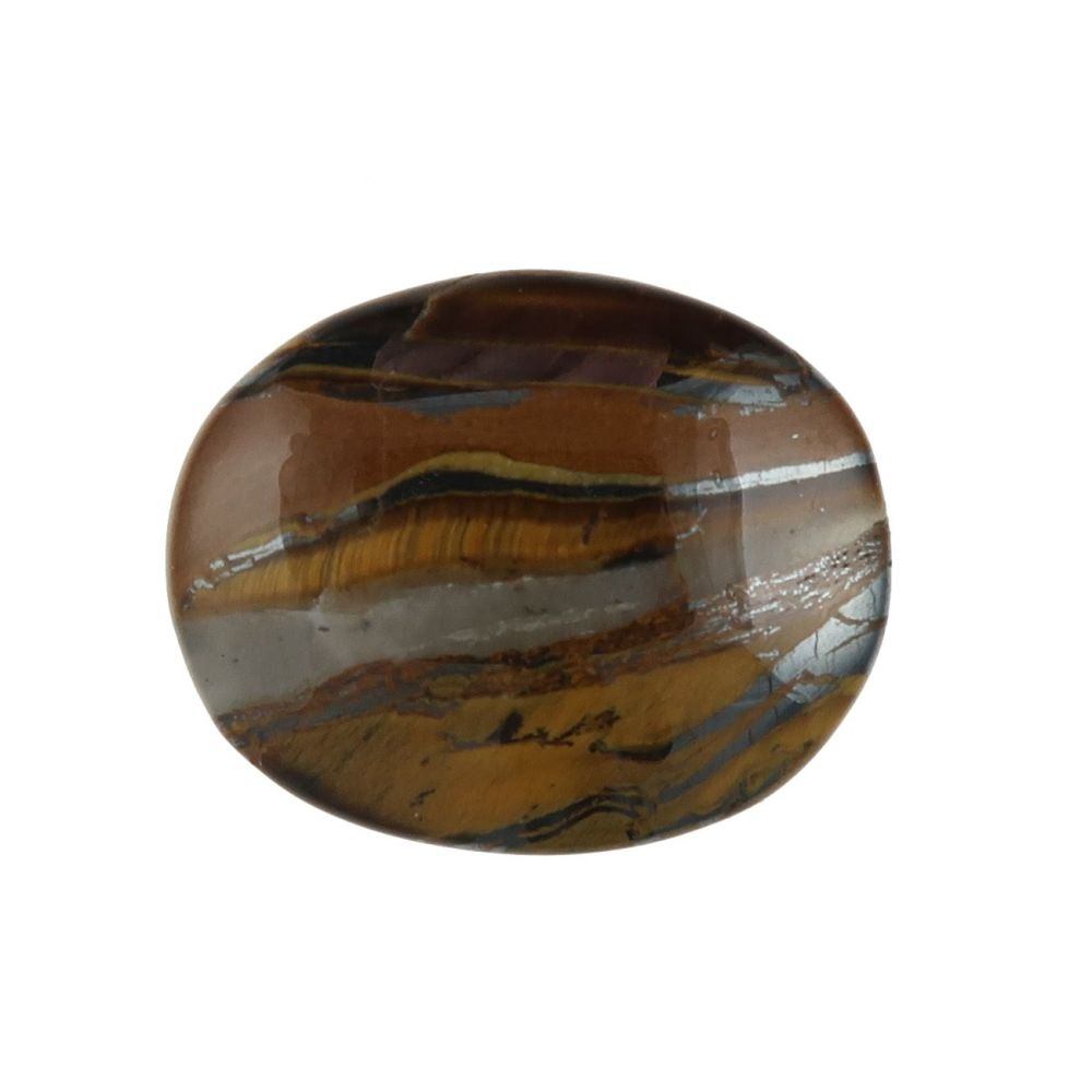 Tiger's-eye and hematite cabochon