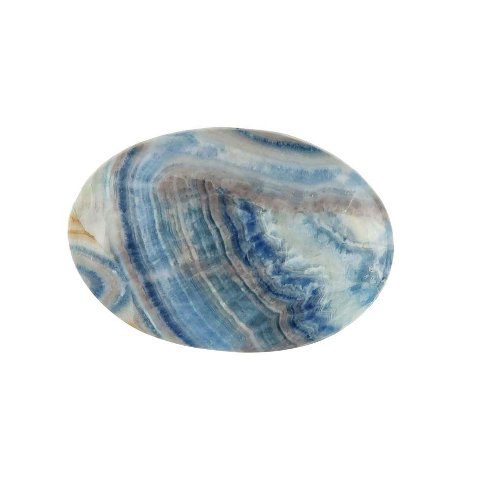 Calcite and scheelite cabochon