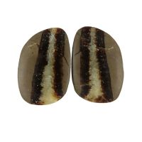 Septarian slices - pair
