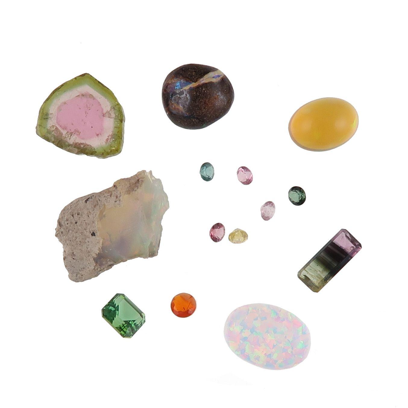 opal and tourmaline