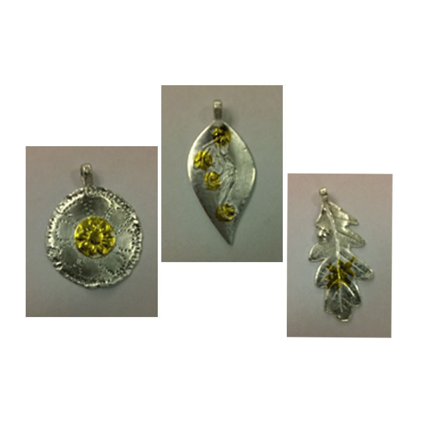 Pendants made on a course at the Ashmolean Oxford