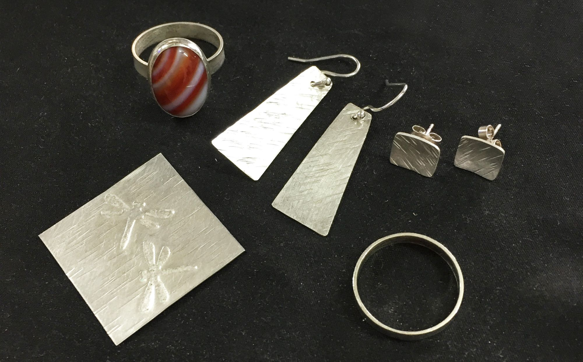 Beginners silver jewellery course projects
