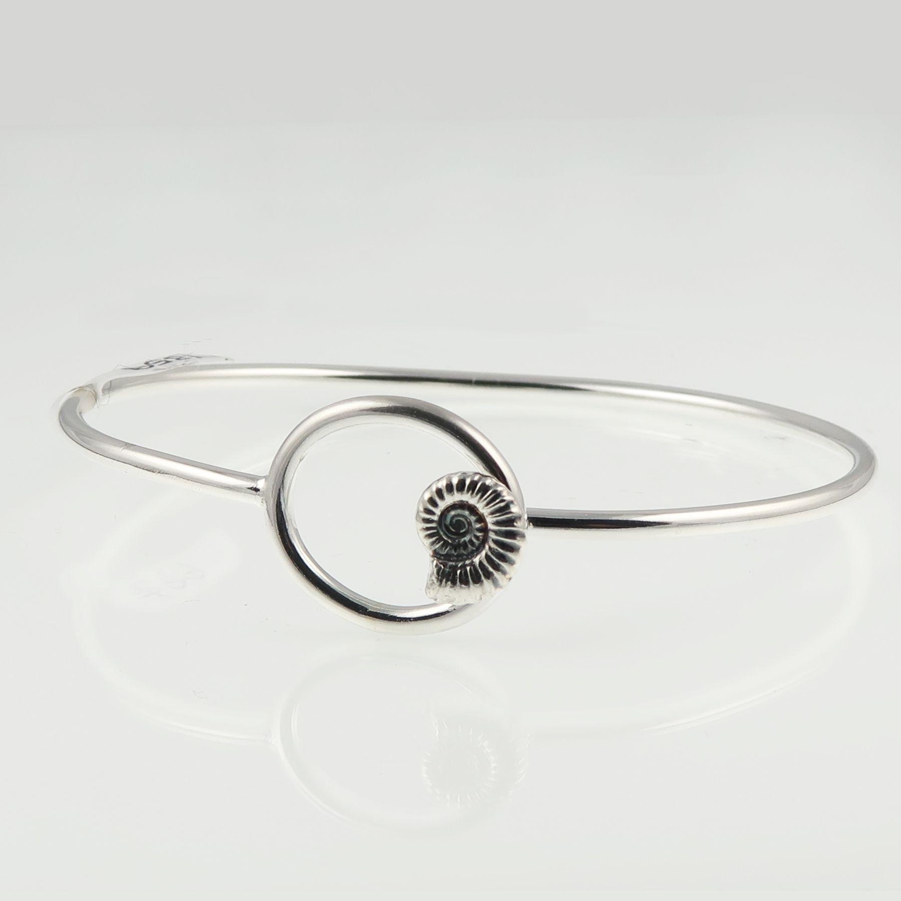 ammonite jewellery; silver jewellery; bangle