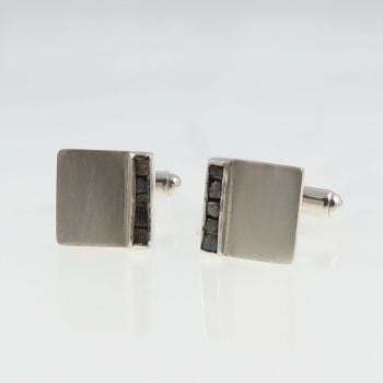 Rough diamond cufflinks