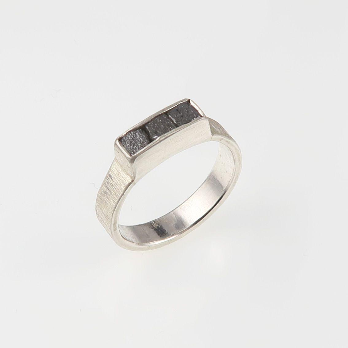 rough diamond jewellery; silver jewellery; diamond ring