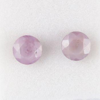 Sapphire facet round - pair