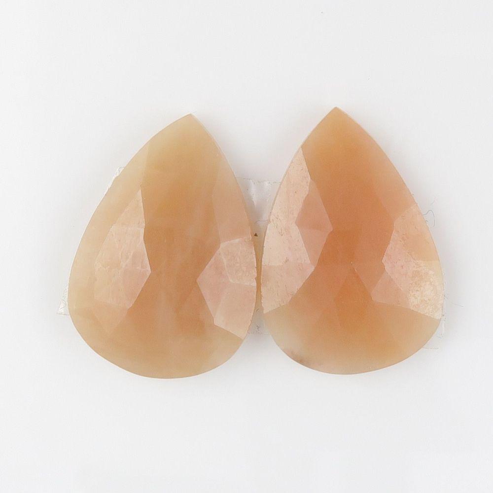 Sapphire facet top cabochons - pair