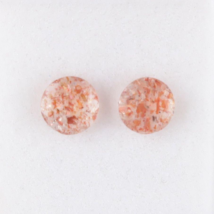 Confetti Sunstone – faceted pair