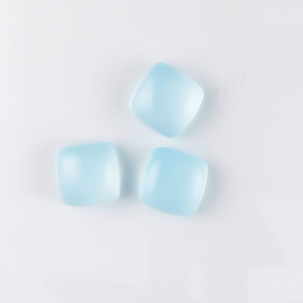 Chalcedony (dyed) cabochons x 3