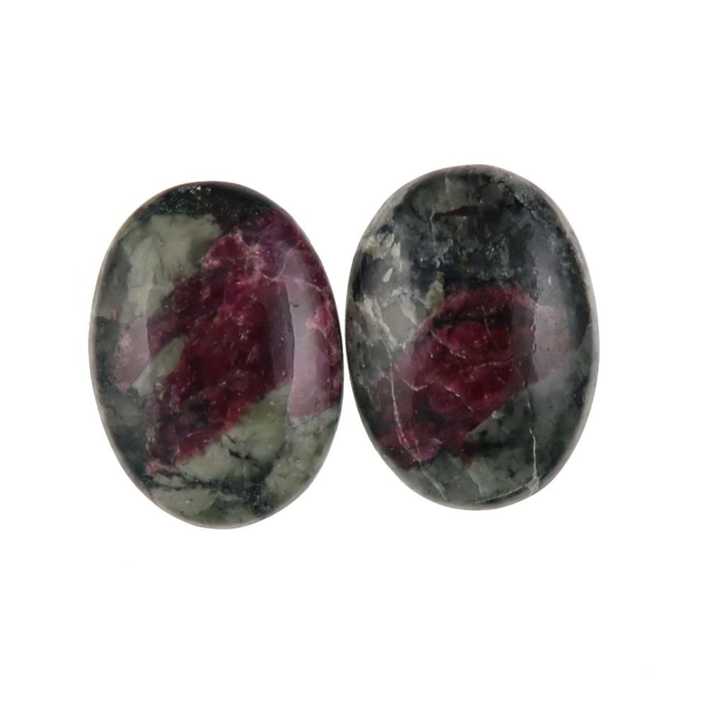 Eudialyte cabochons - pair