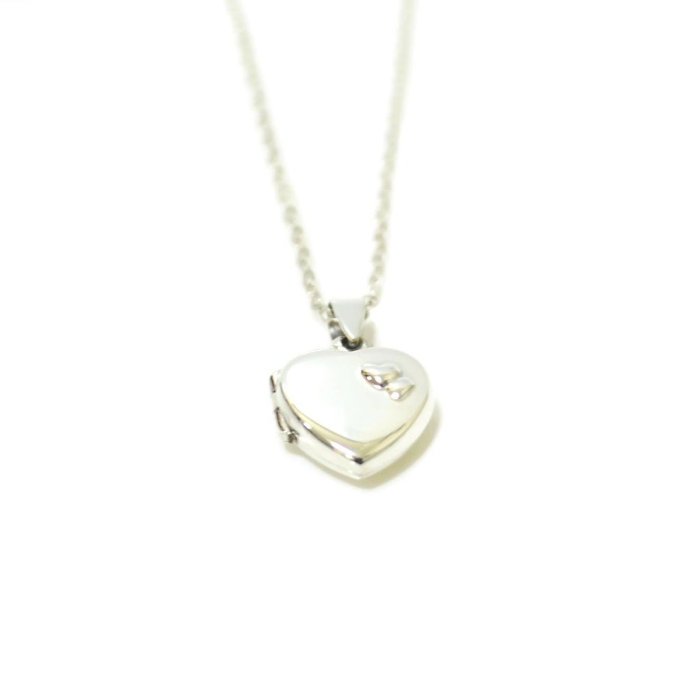 Love Film Double Heart Locket