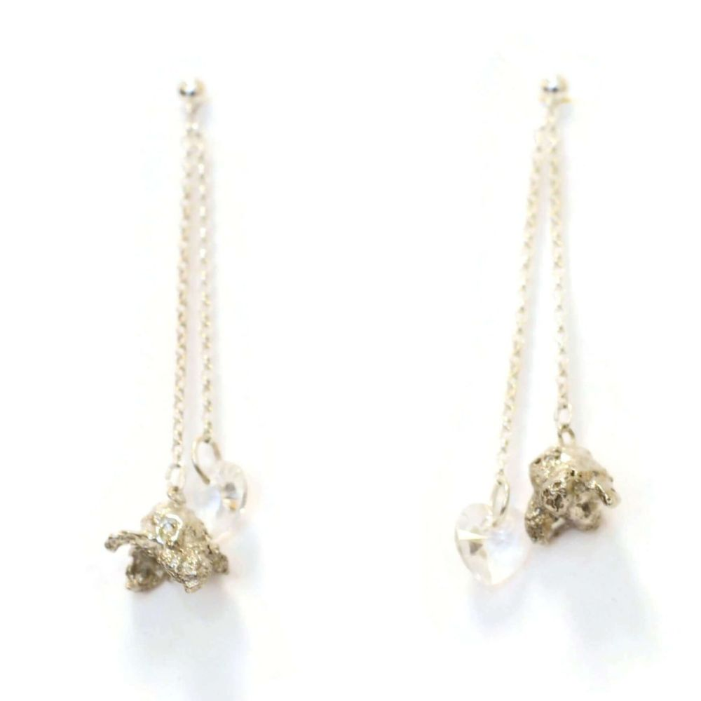 Perfectly Popped Double Dangling Earrings - Crystal