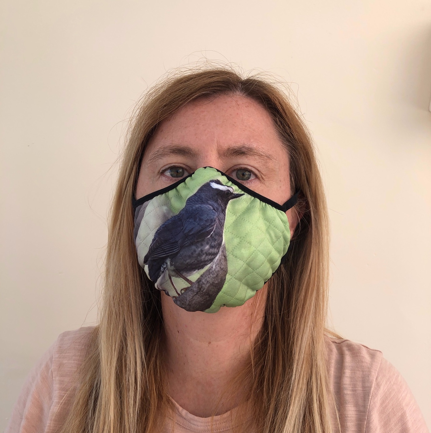 siberian blue robin face mask