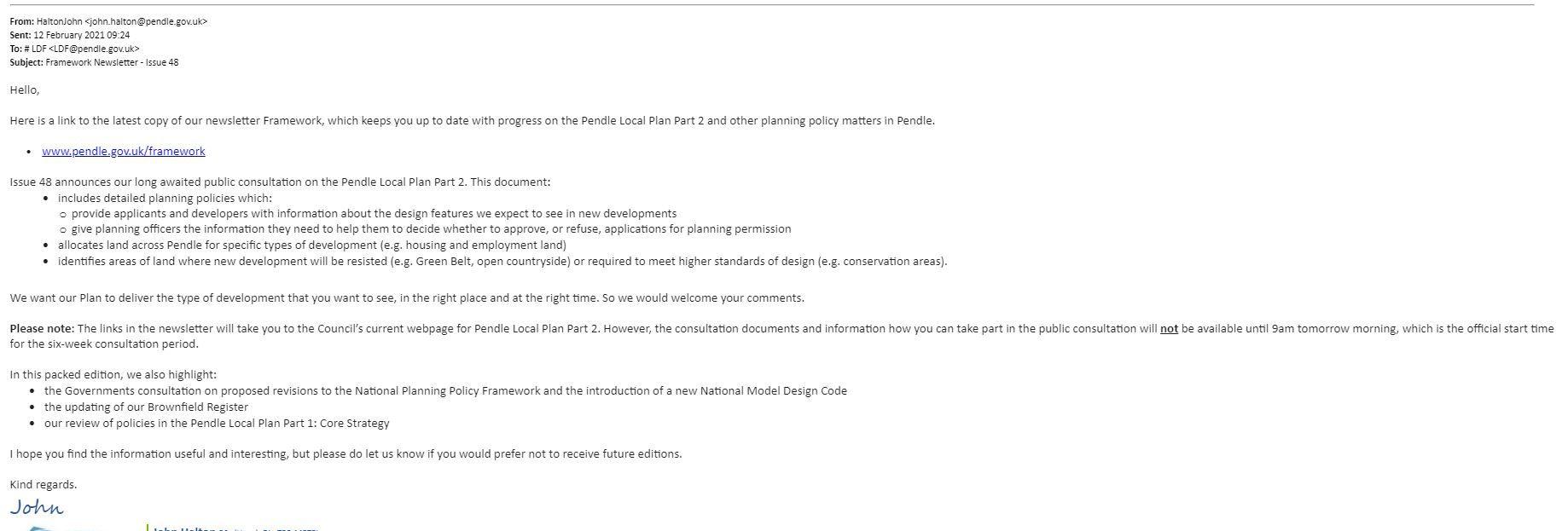 Framework News Letter Issue 48