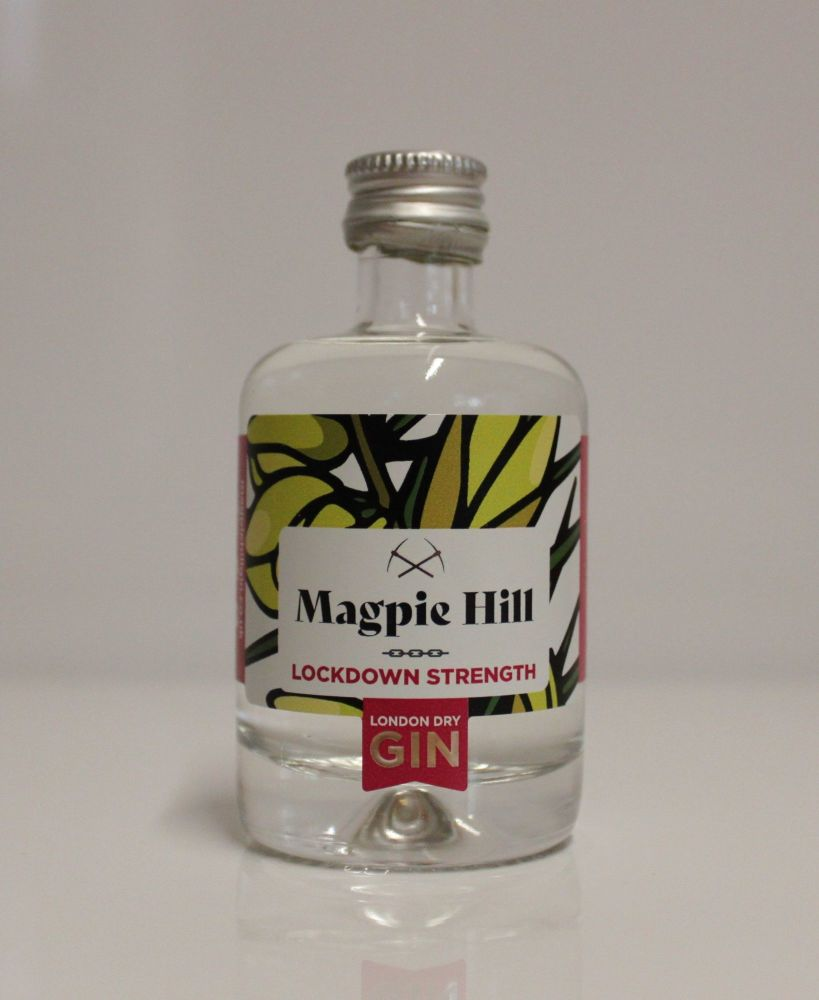 Magpie Hill LOCKDOWN strength London Dry Gin Miniature