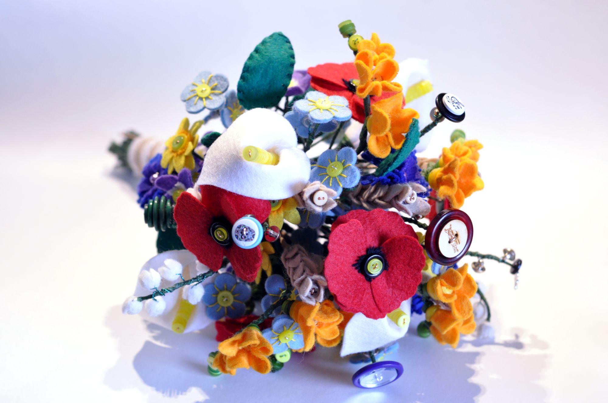 luxury felt wedding bouquet