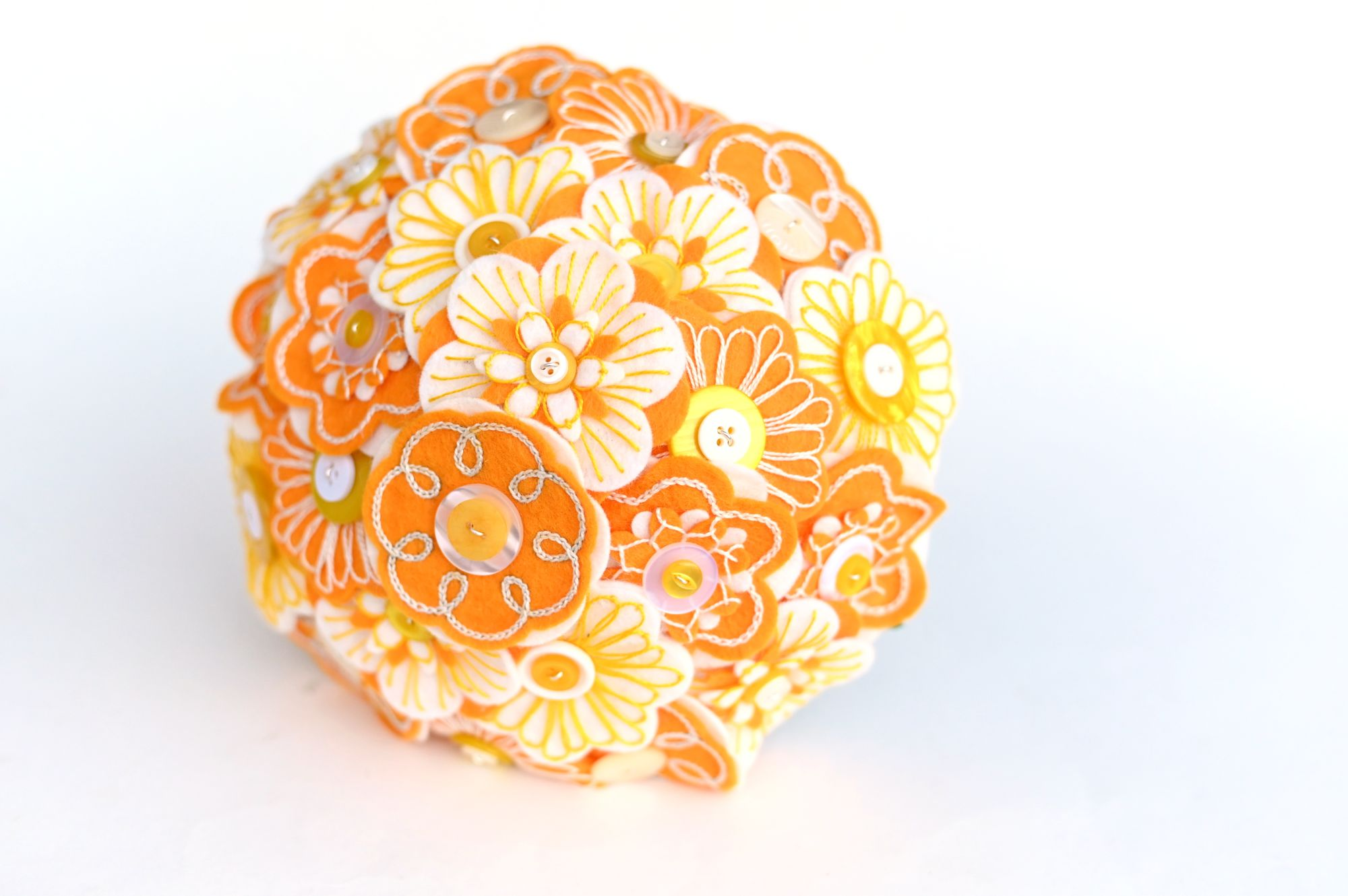 yellow embroidered felt flower bouquet (3).JPG