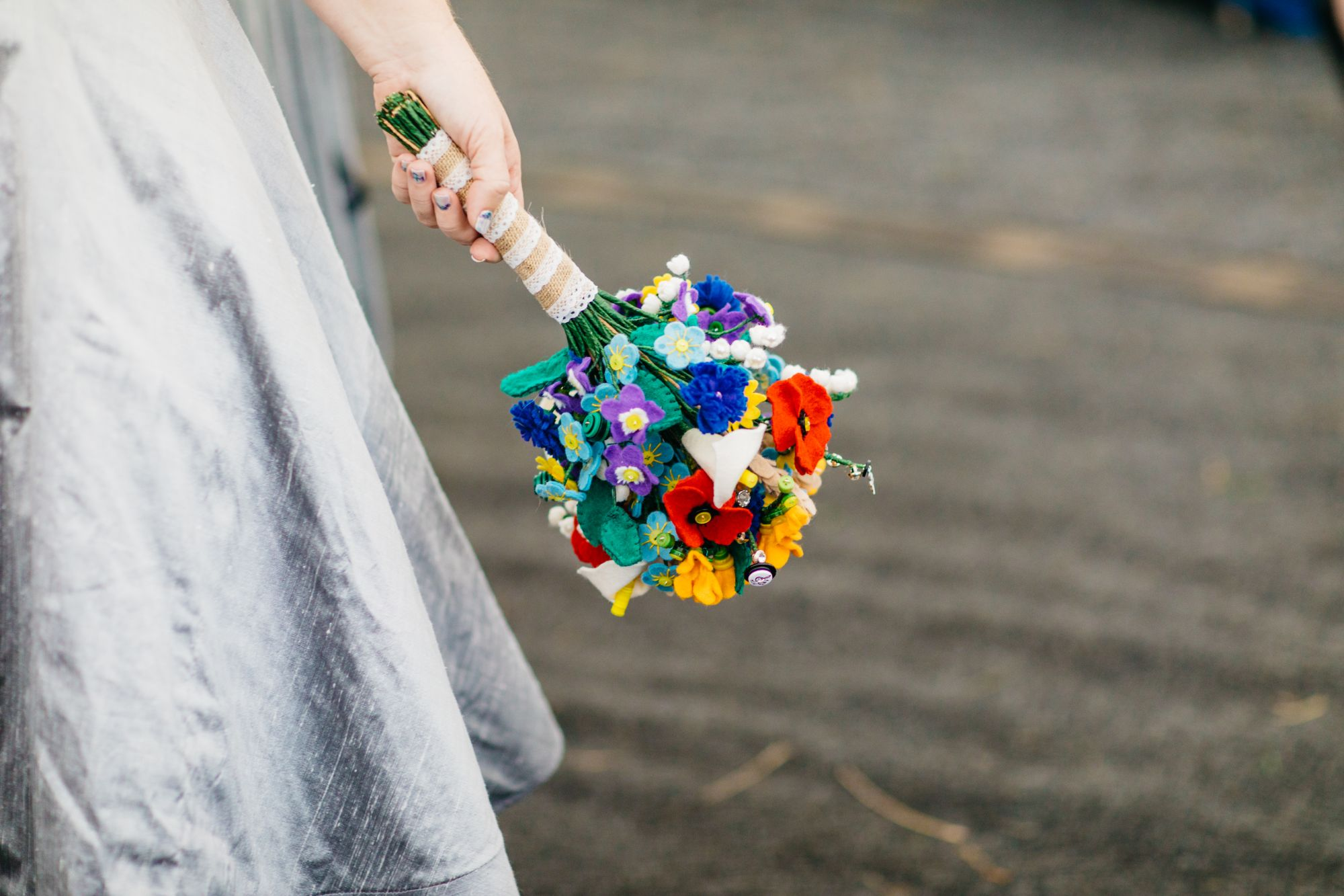 luxury wedding felt bouquet