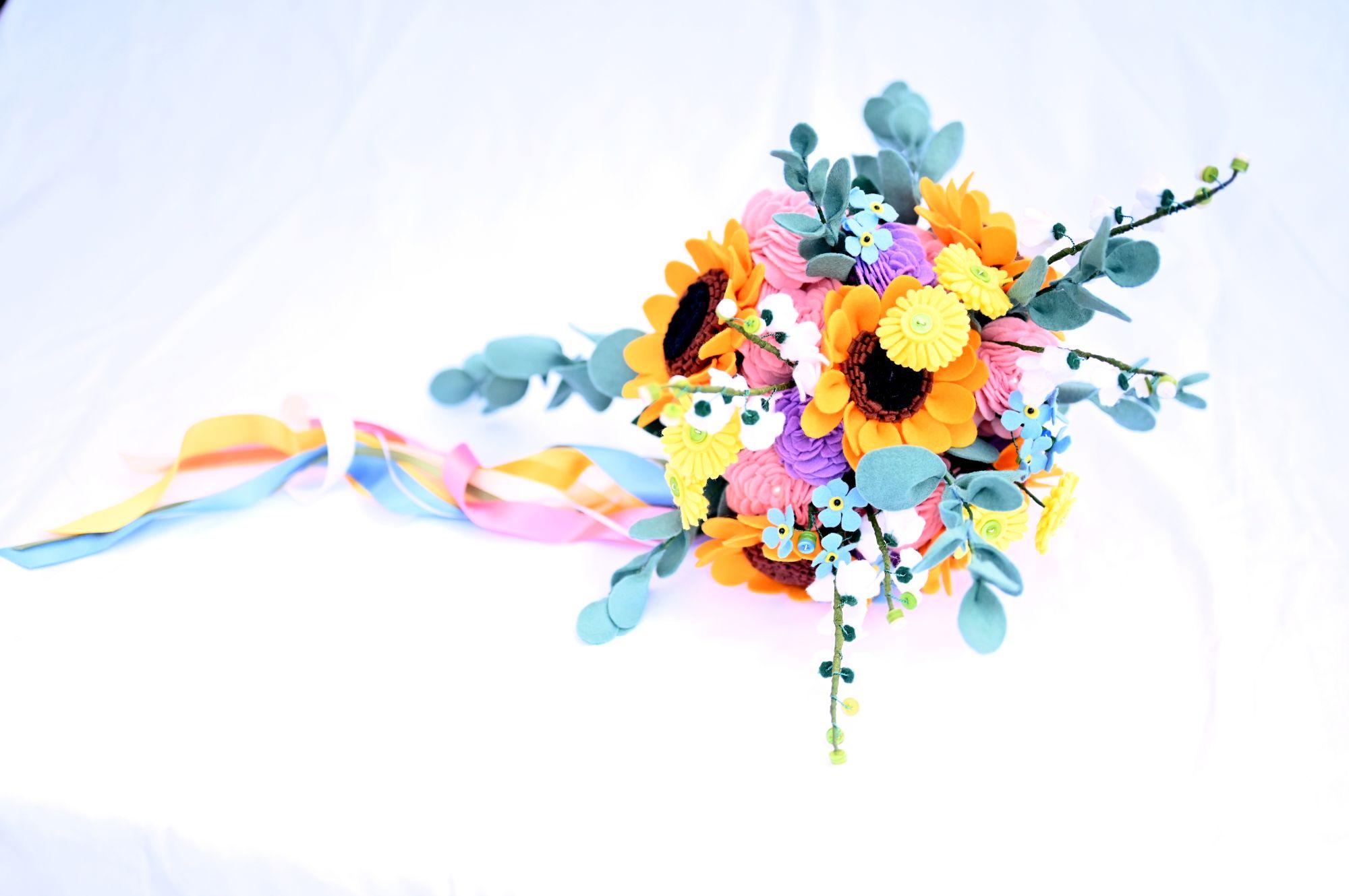 stylish felt bouquet