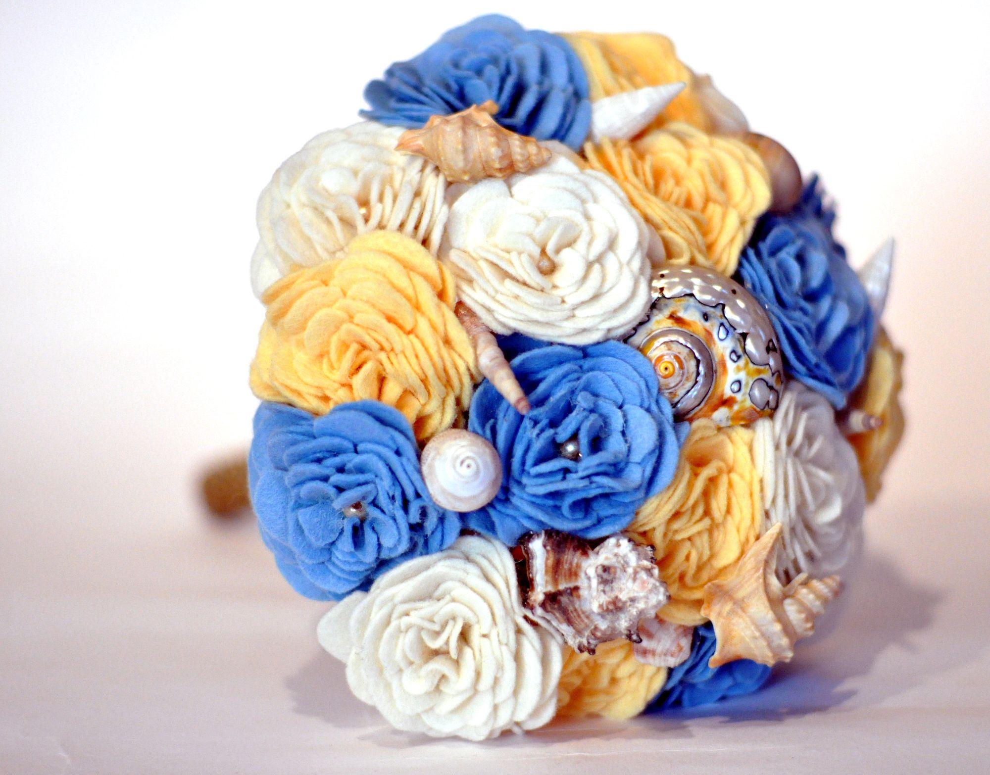 Shell felt flower Bouquet  (1).JPG