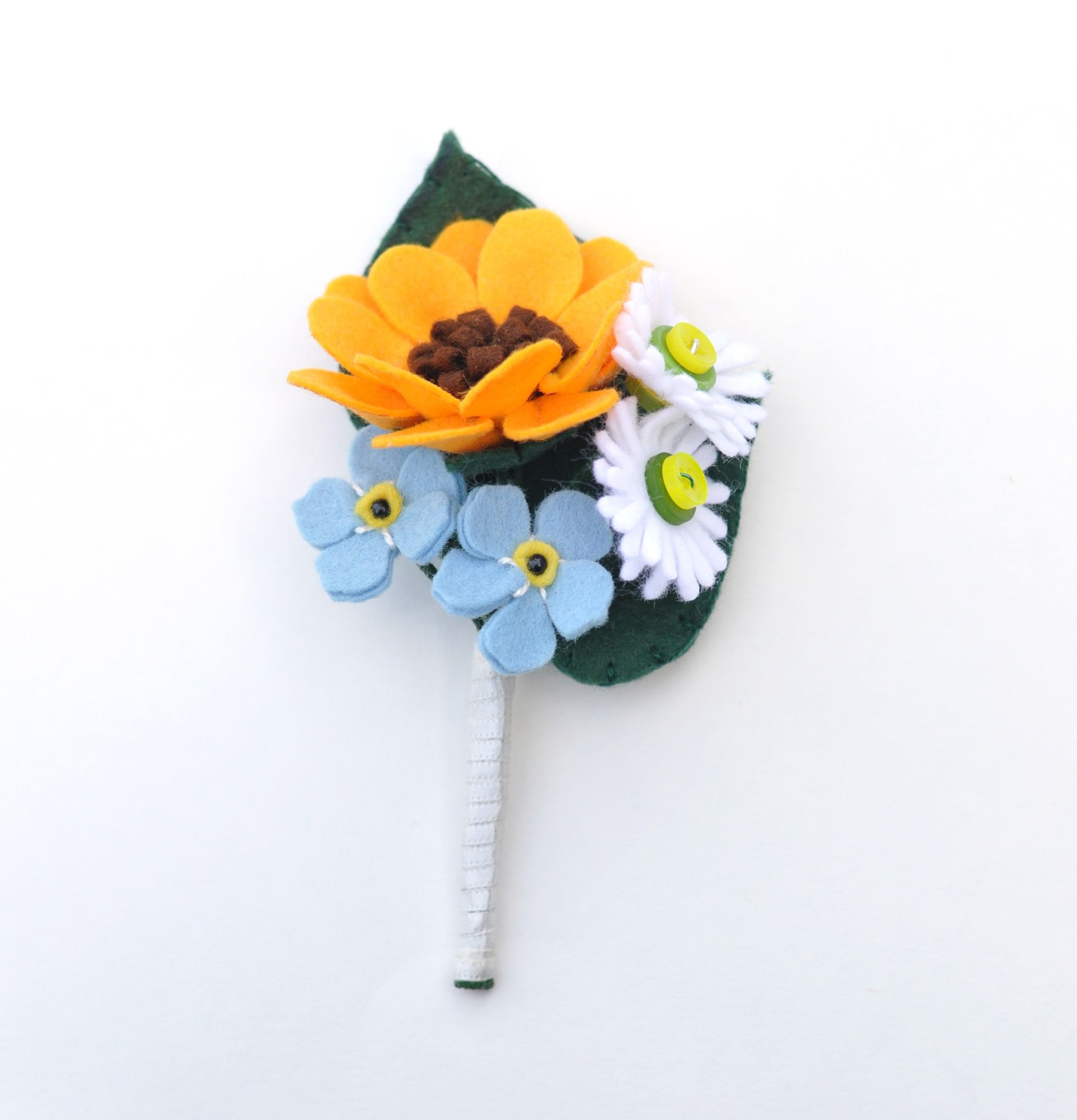 groom felt buttonhole