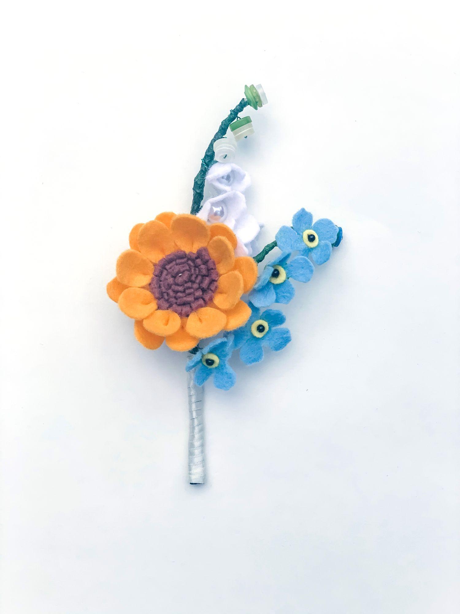 felt handmade buttonhole