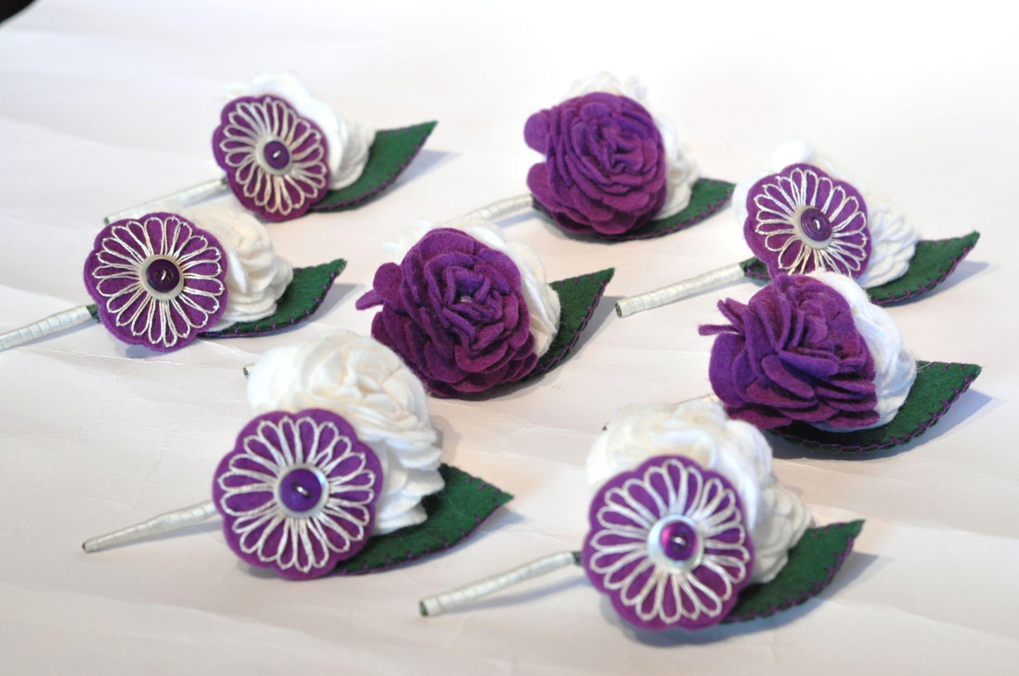 felt buttonholes