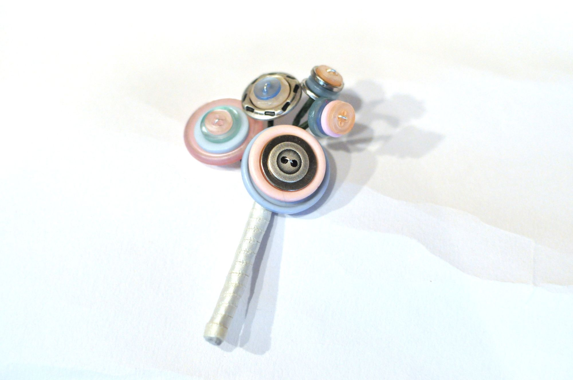 pastel button buttonhole