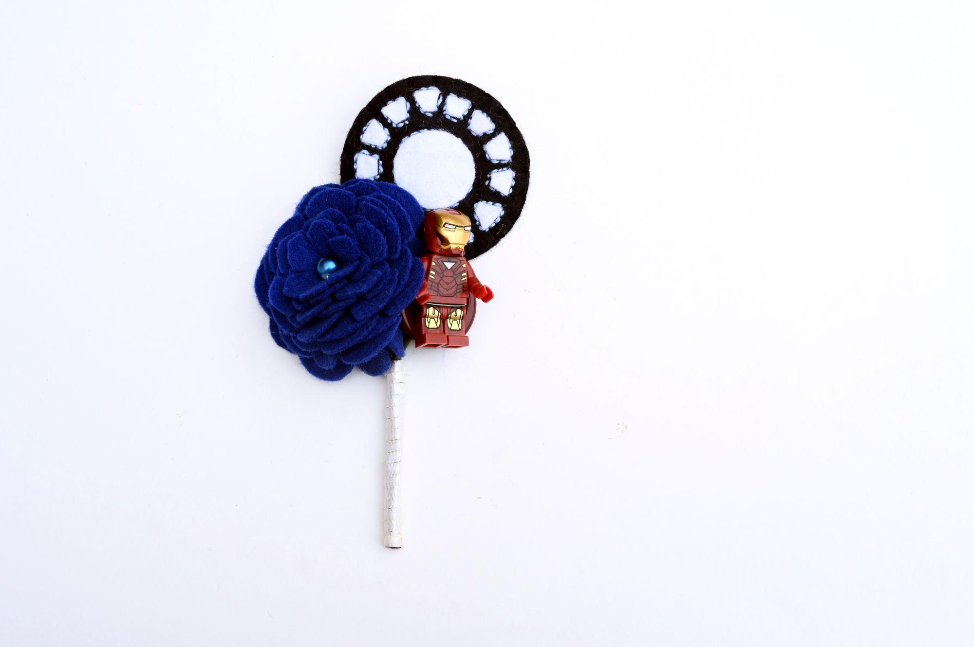 Iron man lego buttonhole