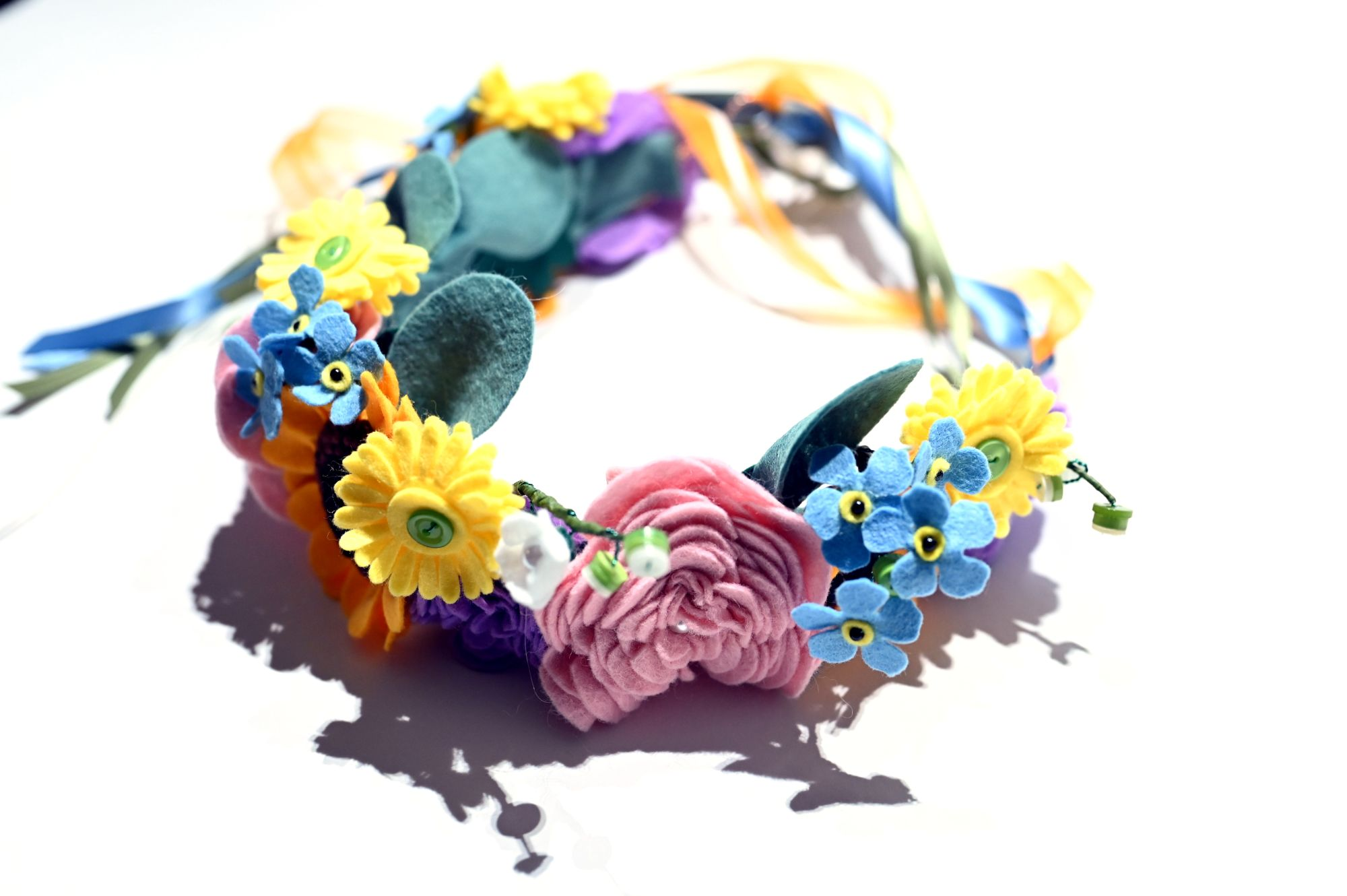 felt flower crown