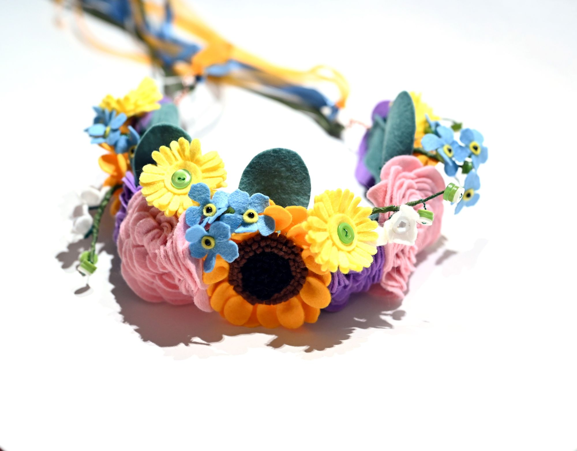 felt flower crown