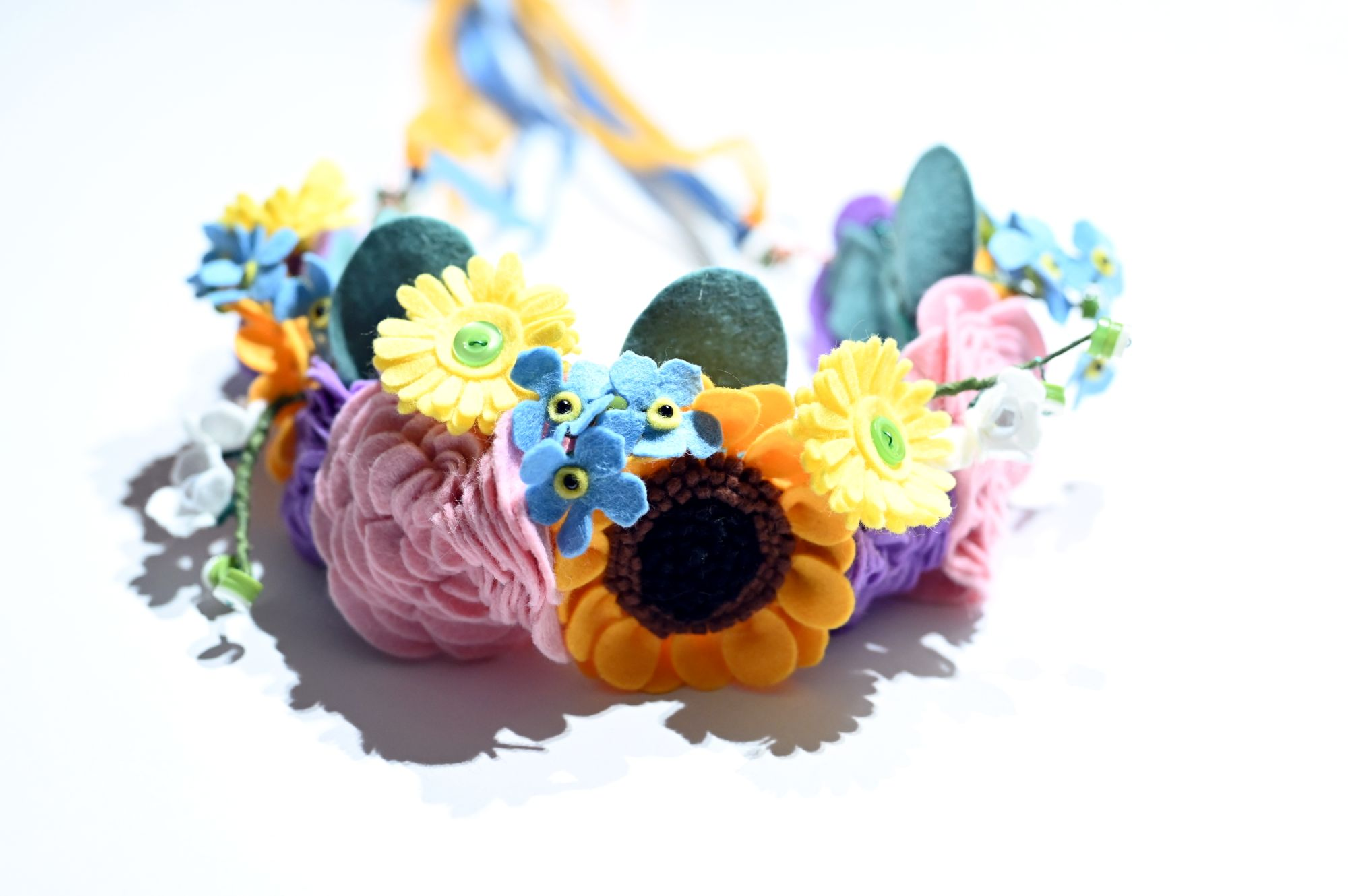 felt kids flower crown