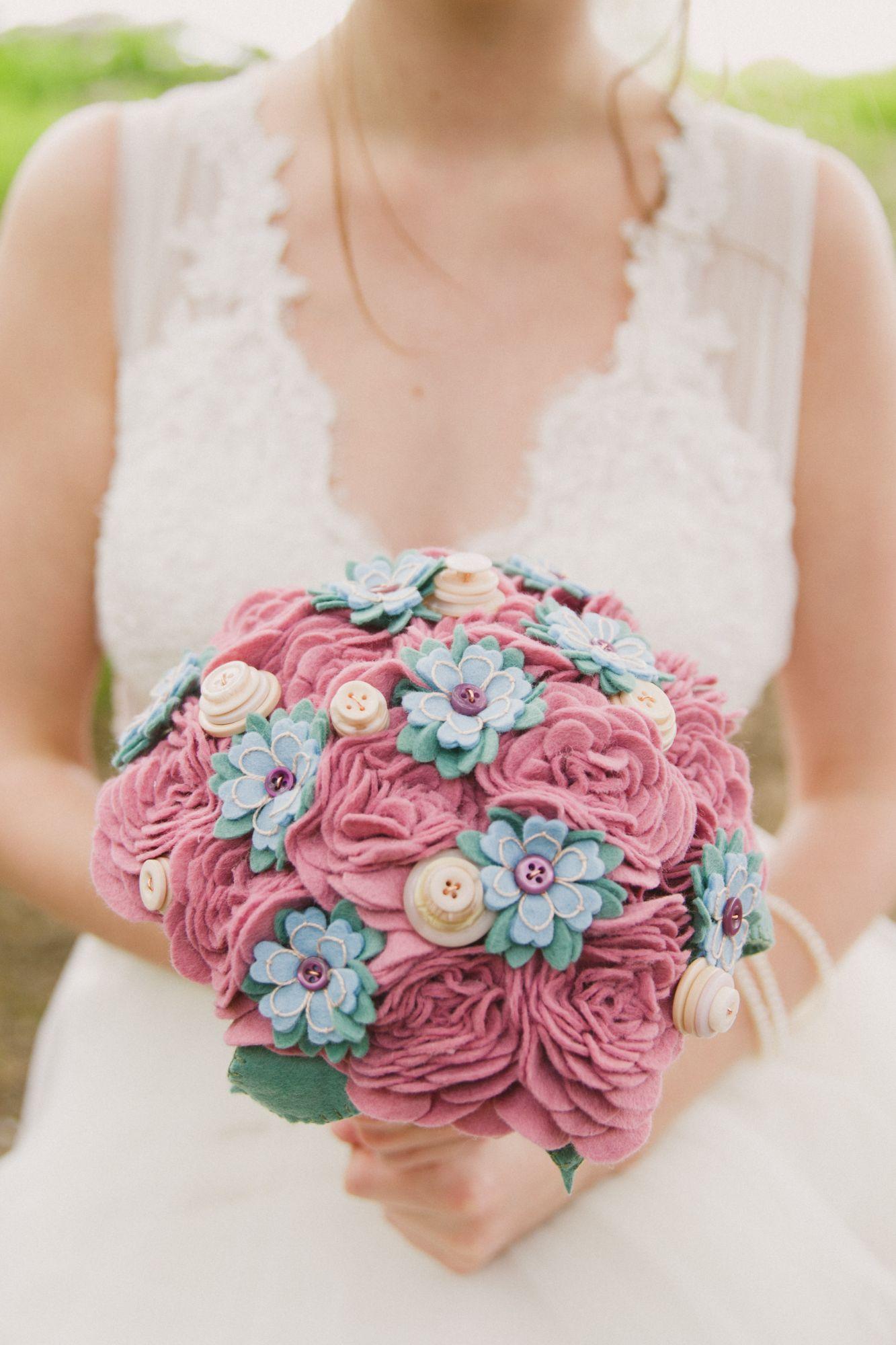 Alternative wedding buttonholes