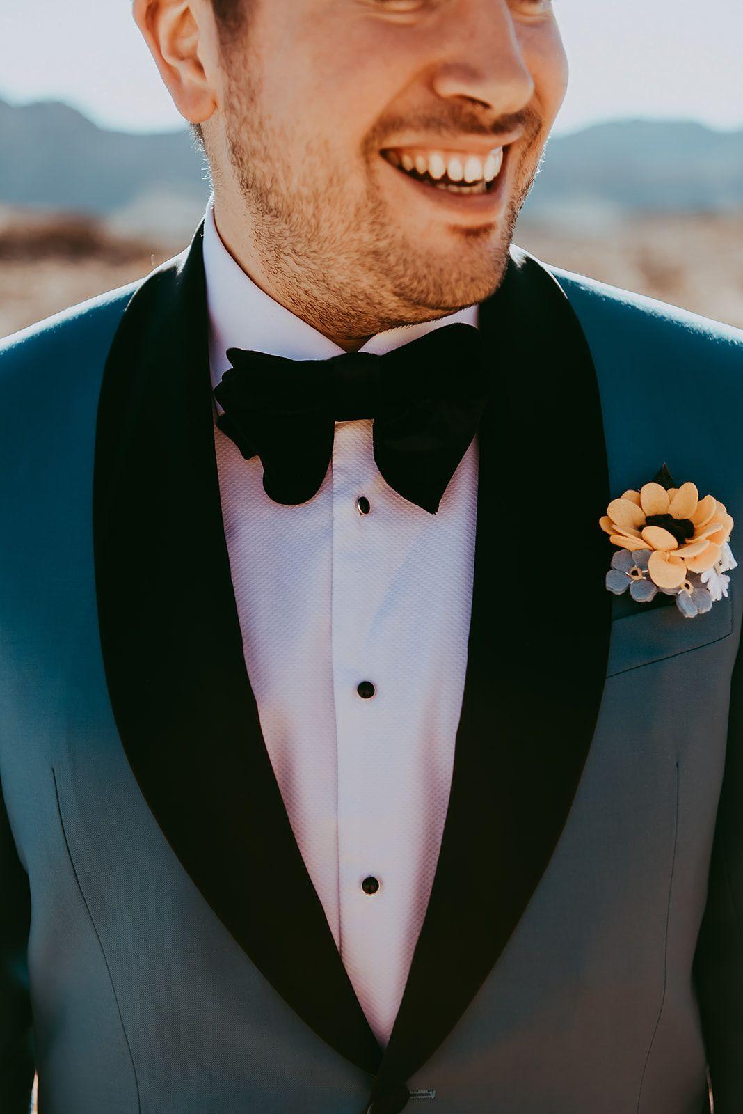 groom felt buttonhole