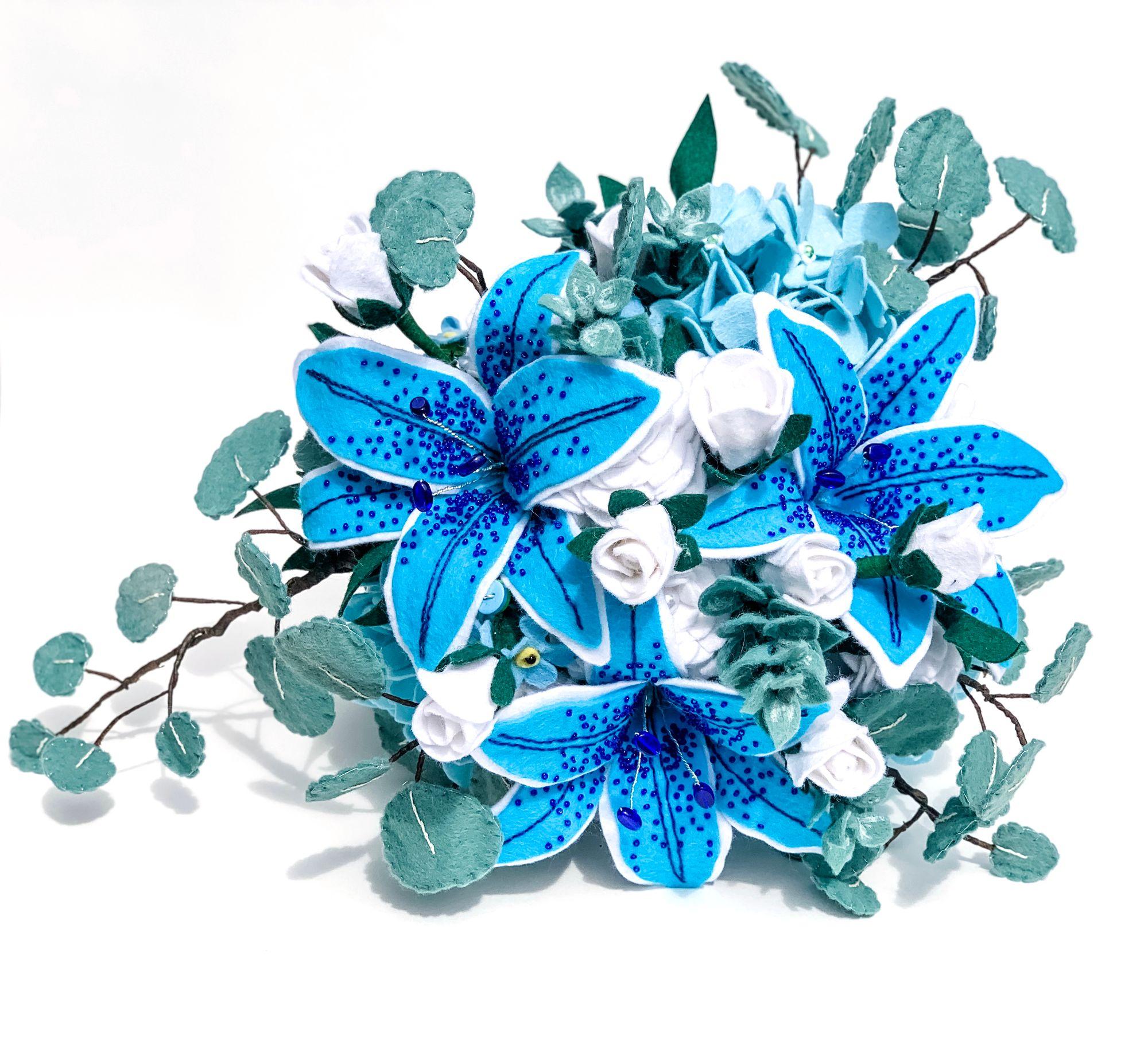 colourful felt bouquet
