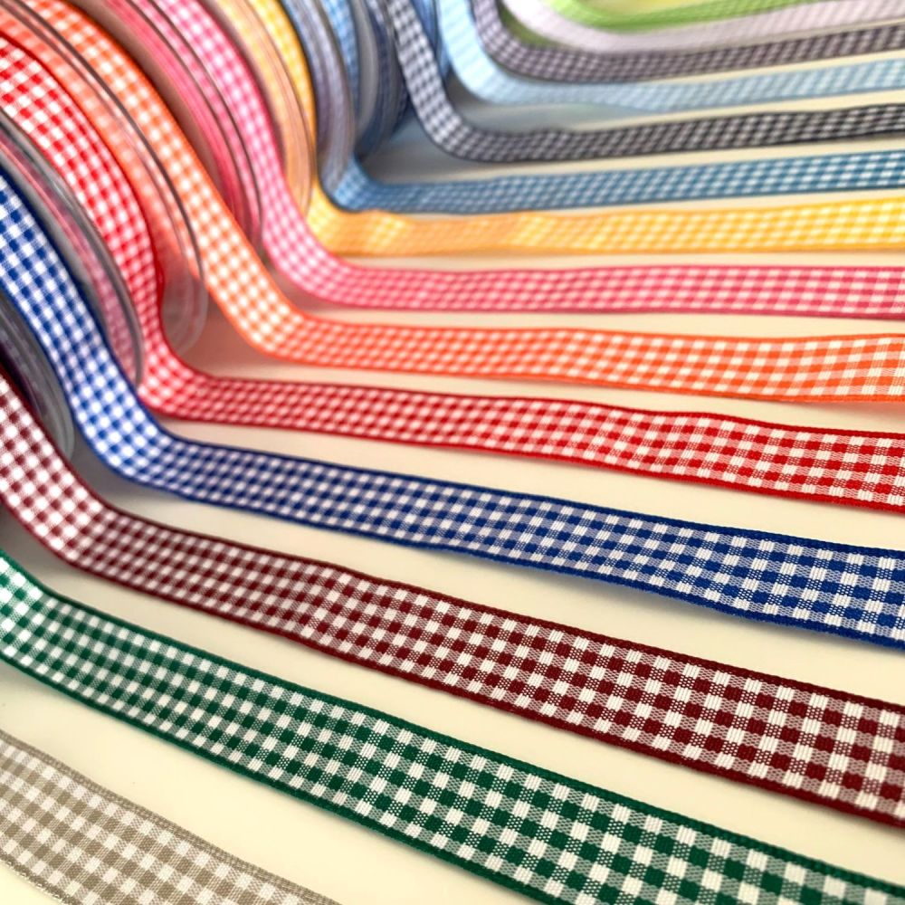 Berisford's traditional gingham ribbon - available in 16 colours