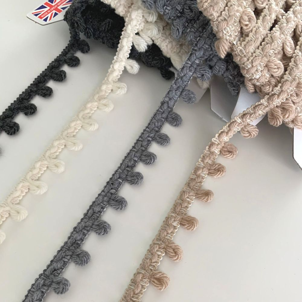 Yarn Loop Fringe Braid - 4 colours
