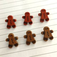 Gingerbread shank buttons - 2 colours