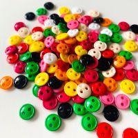 9mm Colourful Mini Dolly Buttons