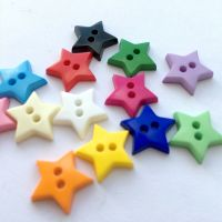 Mini Star Shaped Buttons - 13mm/17mm