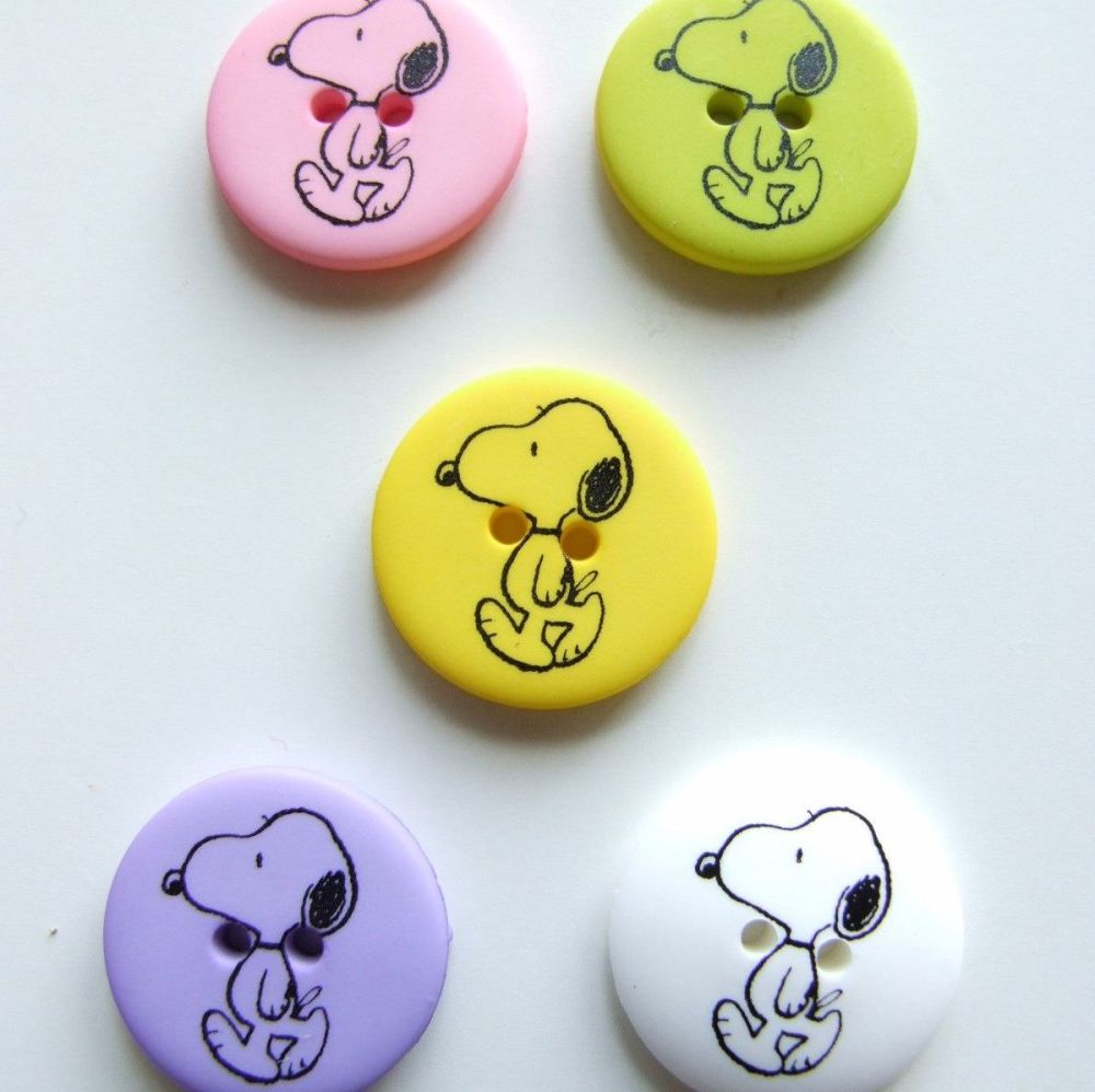 Snoopy Print Plastic Buttons